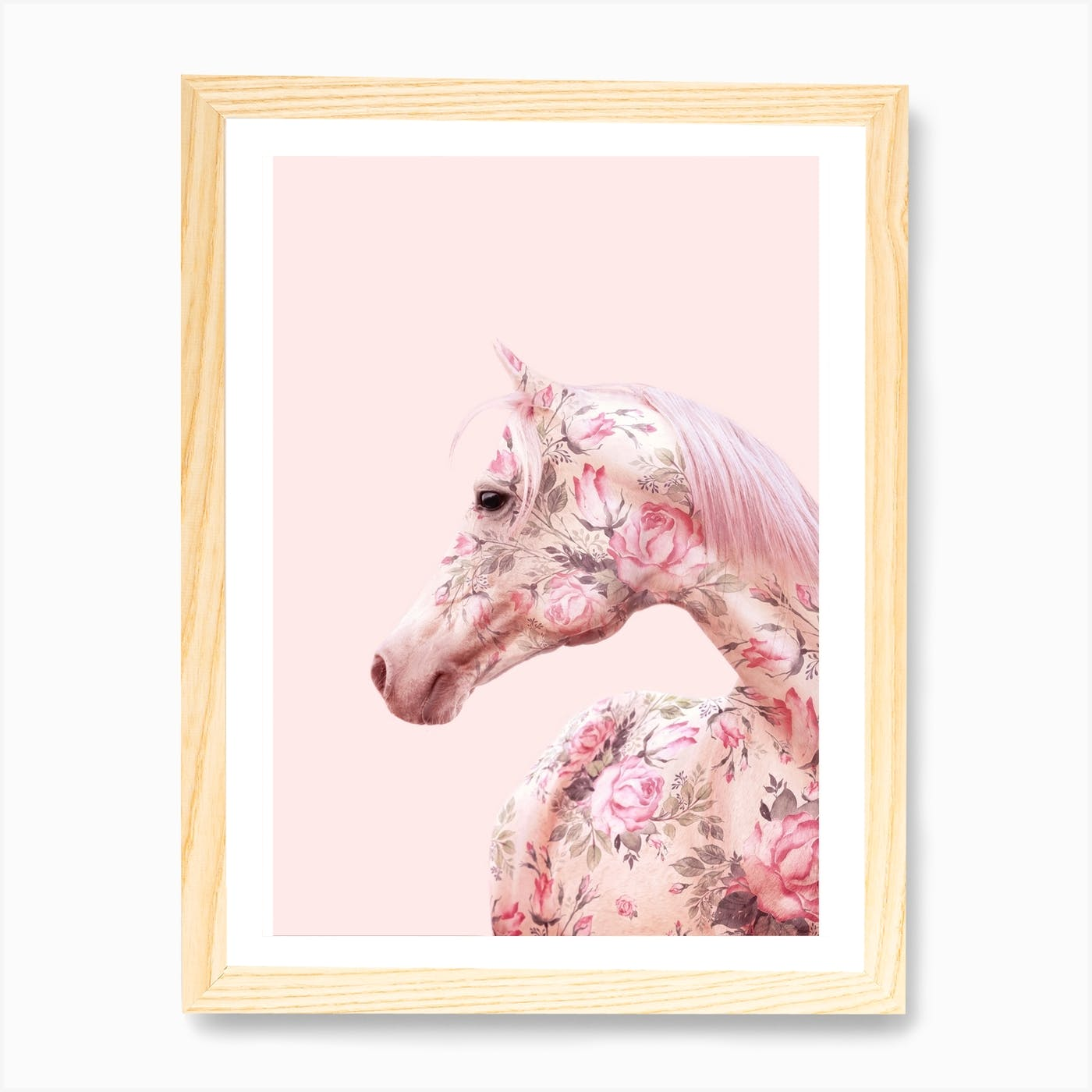 Floral Horse Art Print By Paul Fuentes Design Fy