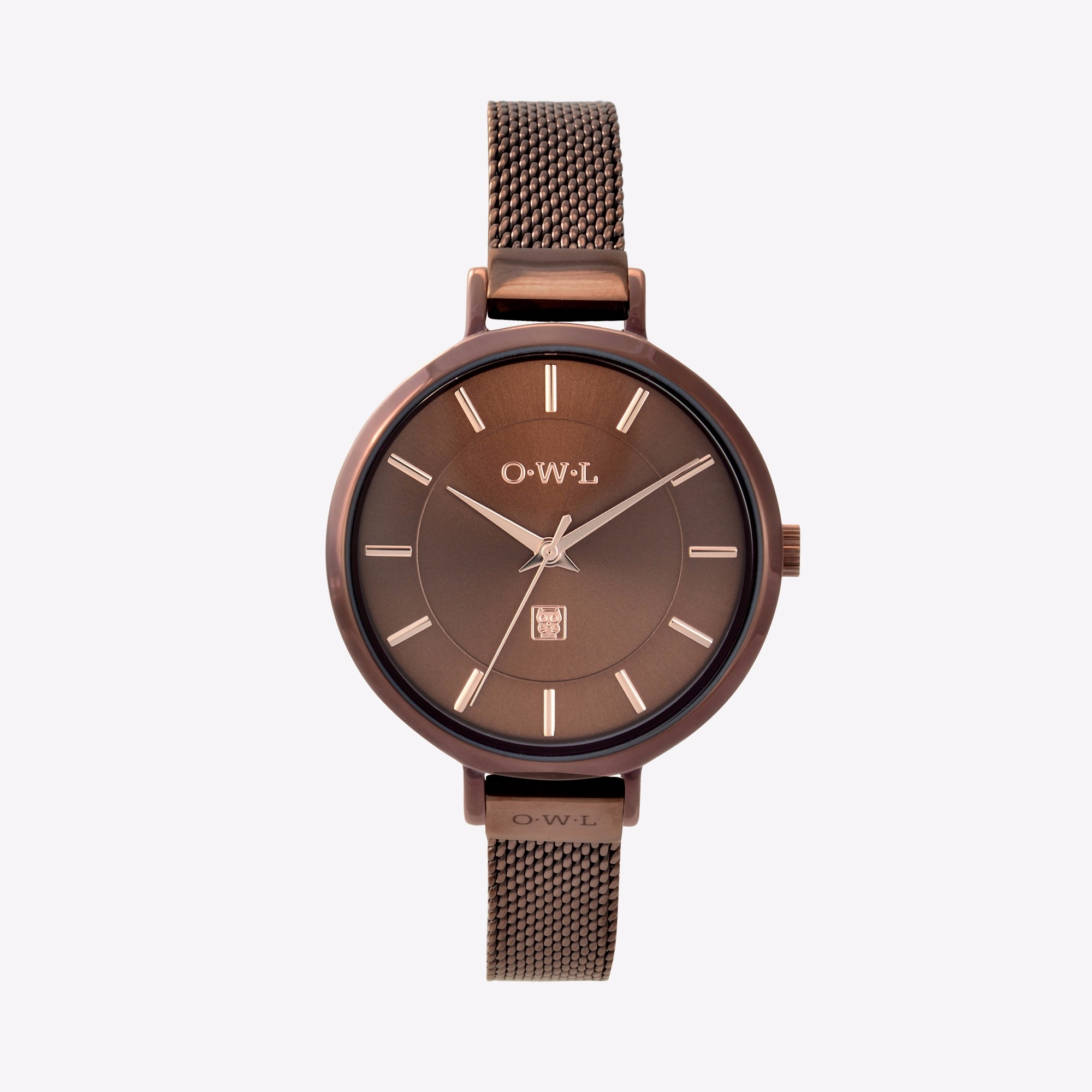 the ledbury watch in rich brown