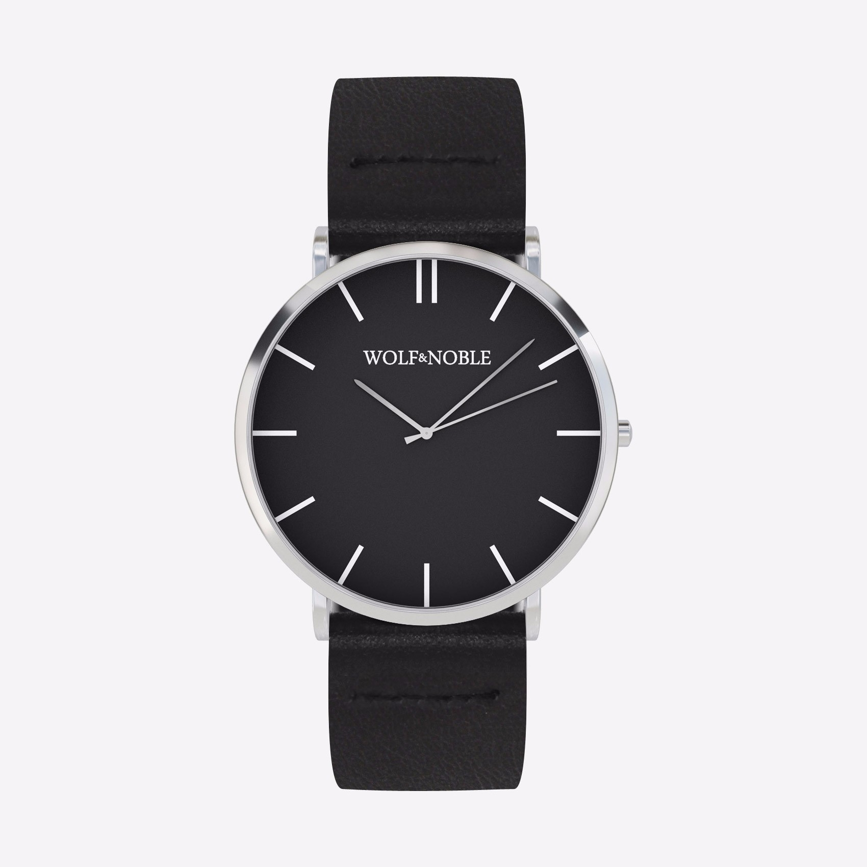 New Richmond Watch Black & Silver with Black Strap