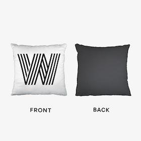 Black Letter W Cushion