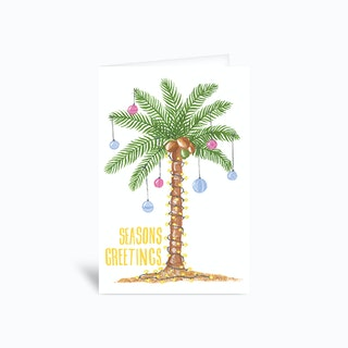 Palm Seasons Greetings Sambulll Greetings Card