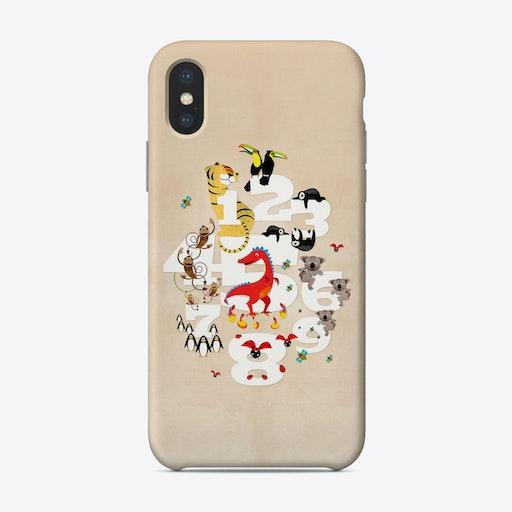 One Two Three Animals Phone Case