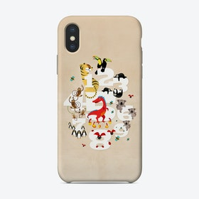 One Two Three Animals Phone Case