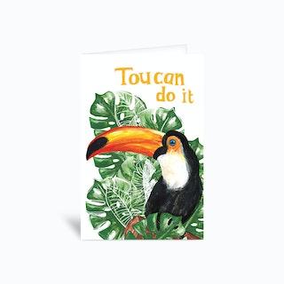 Toucan Do It Sambulll Greetings Card