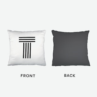 Black Letter T Cushion
