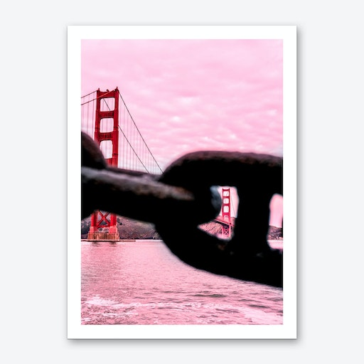 Pink Golden Gate Bridge Art Print