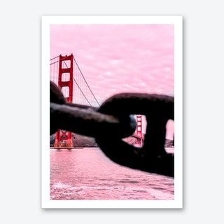 Pink Golden Gate Bridge Art Print