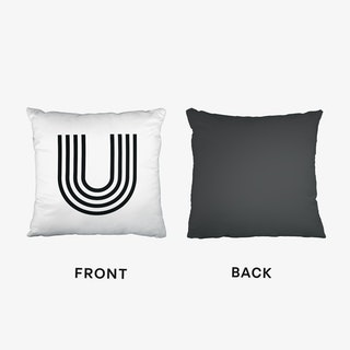 Black Letter U Cushion