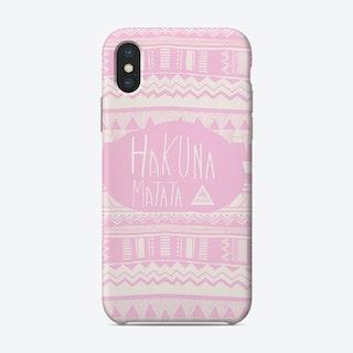 Hakuna Matata Pink Phone Case