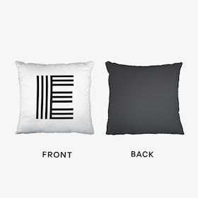 Black Letter E Cushion