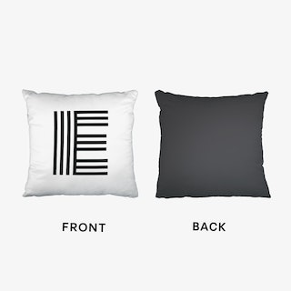 Black Letter E Cushion