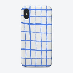 Grid Blue Windowpane Iphone Phone Case