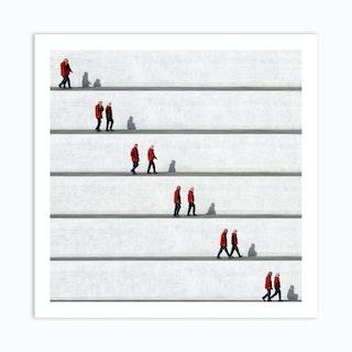 Wall People Detail 3 Art Print