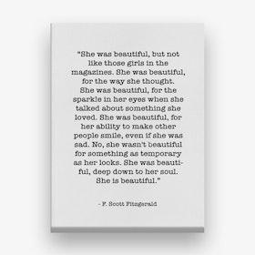 Fitzgerald Quote Canvas Print