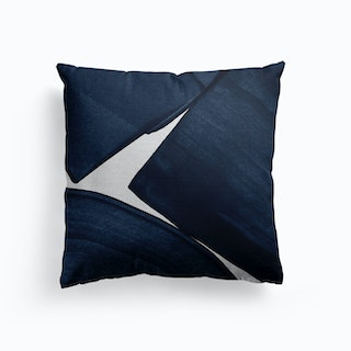 Minimalist Painting Blue Ii Cushion
