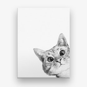 Sneaky Cat Canvas Print