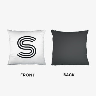 Black Letter S Cushion