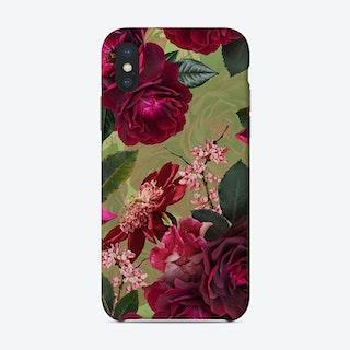 Vintage Summer Botanical Roses Garden Phone Case