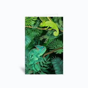 Chameleons Greetings Card