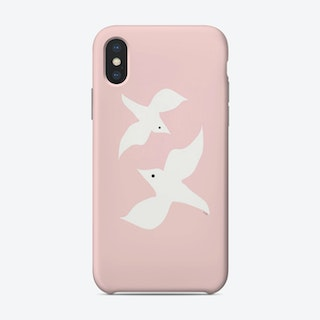 Love Birds In Pink Phone Case