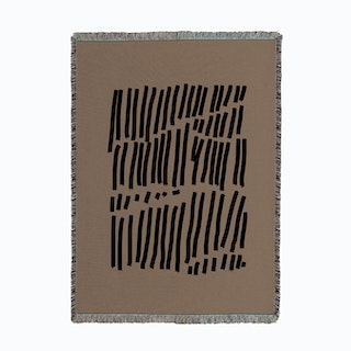 Black Lines Woven Throw