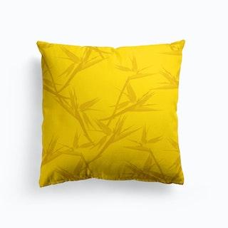 Bird Of Paradise Gold Cushion