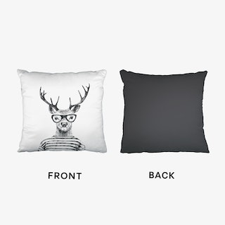 Hipster Deer Cushion