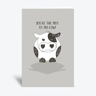 Moo To My Cow  Greetings Card