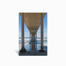 Ocean Beach Pier Greetings Card