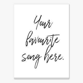 Your Song or Quote Personalised Canvas Print