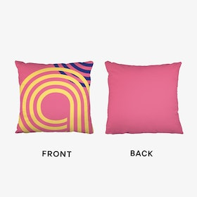 Multiline Pink Abstract Cushion