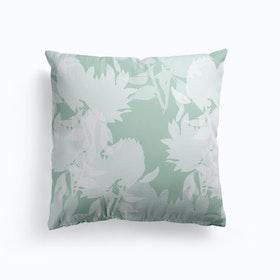 Floral Teal Cushion