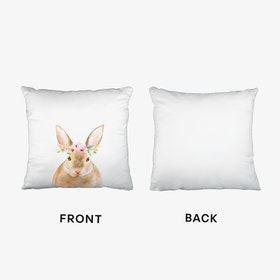 Floral Rabbit Cushion