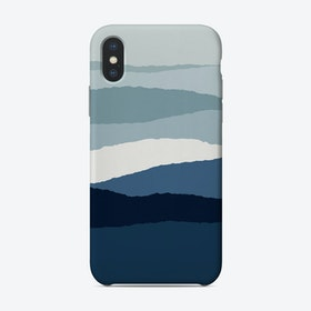Blue Abstract 2 Phone Case