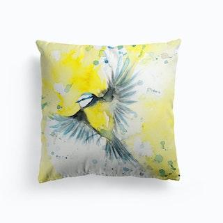 Blue Tit Bird 2 Cushion