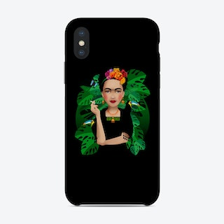 Frida Kahlo Black Phone Case