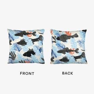 Black Fishes Cushion