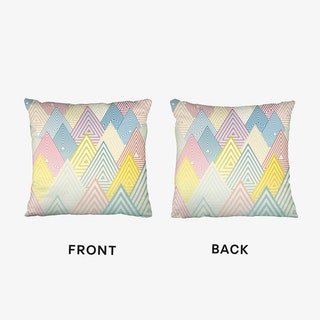 Pastel Mountains Cushion