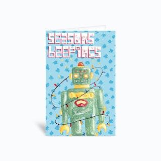 Seasons Beepings Sambull Greetings Card