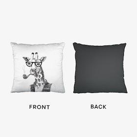 Hipster Giraffe Cushion