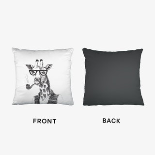 Hipster Giraffe Cushion