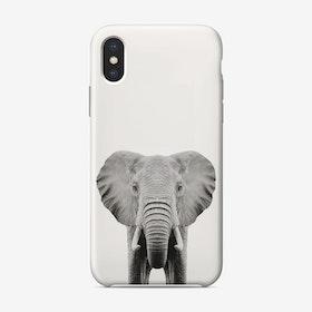 Elephant B&W iPhone Case