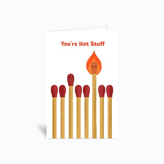 Hot Stuff Greetings Card