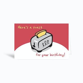 Birthday Toast Greetings Card