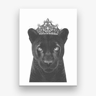 The Queen Panther Canvas Print