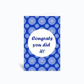 Congrats B  Greetings Card