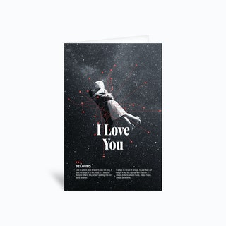 Be loved Valentine Greetings Card