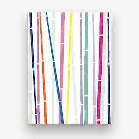 Bamboo Rainbow Canvas Print