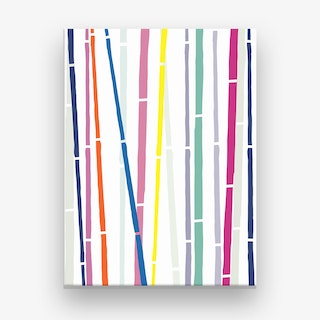 Bamboo Rainbow Canvas Print
