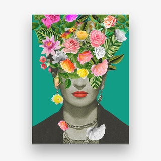 Frida Floral Canvas Print